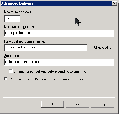 Setting up Outbound Email in SharePoint 2007 Using an Authenticated