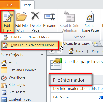 can't edit page layout in sharepoint designer 2010 | are