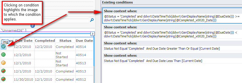 Conditional Formatting and date comparisons with SharePoint